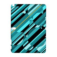 Blue abstraction Samsung Galaxy Note 10.1 (P600) Hardshell Case