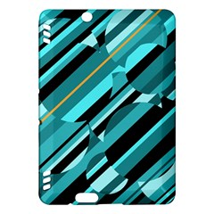 Blue abstraction Kindle Fire HDX Hardshell Case