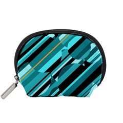 Blue abstraction Accessory Pouches (Small)