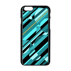 Blue abstraction Apple iPhone 6/6S Black Enamel Case