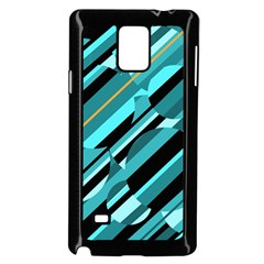 Blue abstraction Samsung Galaxy Note 4 Case (Black)