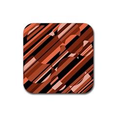 Orange pattern Rubber Coaster (Square)