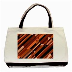 Orange Pattern Basic Tote Bag