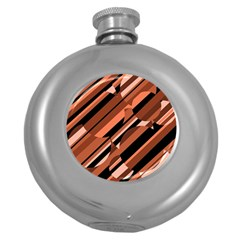 Orange pattern Round Hip Flask (5 oz)
