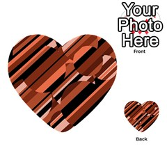 Orange pattern Multi-purpose Cards (Heart)