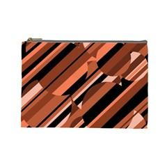 Orange pattern Cosmetic Bag (Large)
