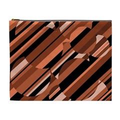 Orange pattern Cosmetic Bag (XL)