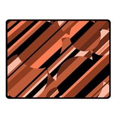 Orange pattern Fleece Blanket (Small)