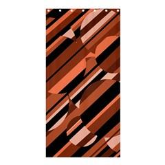 Orange pattern Shower Curtain 36  x 72  (Stall)
