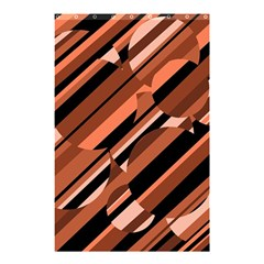 Orange pattern Shower Curtain 48  x 72  (Small)