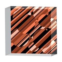 Orange pattern 5  x 5  Acrylic Photo Blocks
