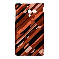 Orange pattern Sony Xperia ZL (L35H)