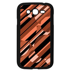 Orange pattern Samsung Galaxy Grand DUOS I9082 Case (Black)