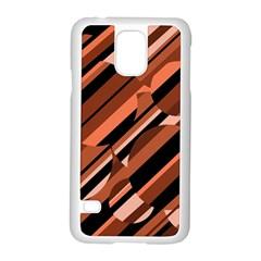Orange pattern Samsung Galaxy S5 Case (White)