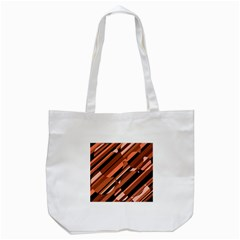 Orange pattern Tote Bag (White)