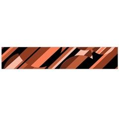 Orange pattern Flano Scarf (Large)