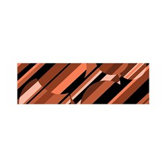 Orange pattern Satin Scarf (Oblong)