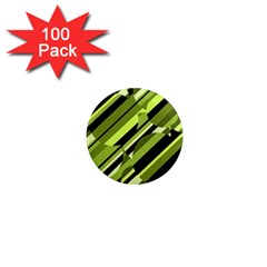 Green pattern 1  Mini Magnets (100 pack)