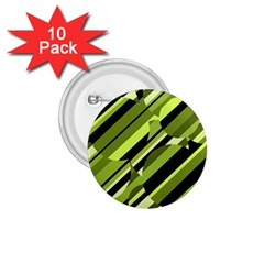 Green pattern 1.75  Buttons (10 pack)