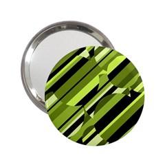 Green pattern 2.25  Handbag Mirrors