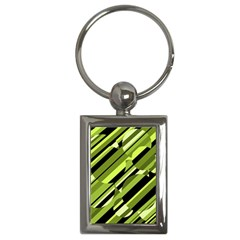 Green pattern Key Chains (Rectangle)