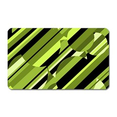 Green pattern Magnet (Rectangular)