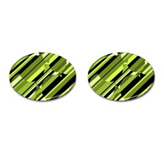 Green pattern Cufflinks (Oval)
