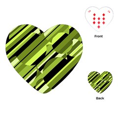 Green pattern Playing Cards (Heart)