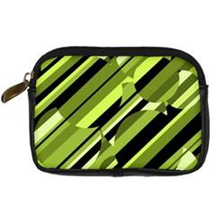 Green pattern Digital Camera Cases