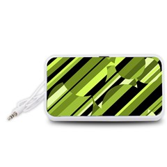Green pattern Portable Speaker (White)