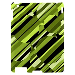 Green pattern Apple iPad 2 Hardshell Case