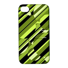 Green pattern Apple iPhone 4/4S Hardshell Case with Stand