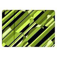 Green pattern Samsung Galaxy Tab 8.9  P7300 Flip Case