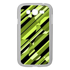 Green pattern Samsung Galaxy Grand DUOS I9082 Case (White)