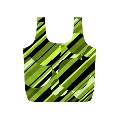 Green pattern Full Print Recycle Bags (S)