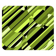 Green pattern Double Sided Flano Blanket (Small)