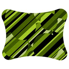 Green Pattern Jigsaw Puzzle Photo Stand (bow)