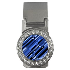 Blue pattern Money Clips (CZ)