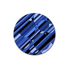 Blue pattern Magnet 3  (Round)