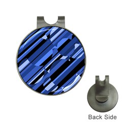Blue pattern Hat Clips with Golf Markers