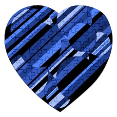 Blue pattern Jigsaw Puzzle (Heart)