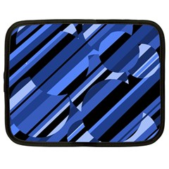 Blue pattern Netbook Case (Large)