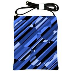 Blue pattern Shoulder Sling Bags