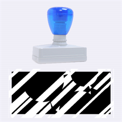 Blue pattern Rubber Stamps (Large)