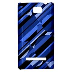 Blue pattern HTC 8S Hardshell Case