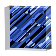 Blue pattern 5  x 5  Acrylic Photo Blocks