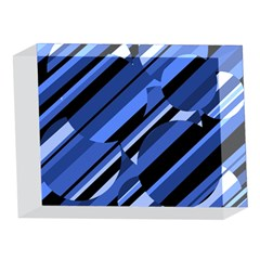 Blue pattern 5 x 7  Acrylic Photo Blocks