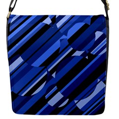 Blue pattern Flap Messenger Bag (S)