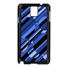 Blue pattern Samsung Galaxy Note 3 N9005 Case (Black)