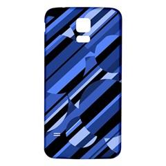 Blue pattern Samsung Galaxy S5 Back Case (White)